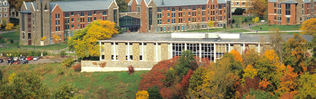 Helen Newman Hall in the fall
